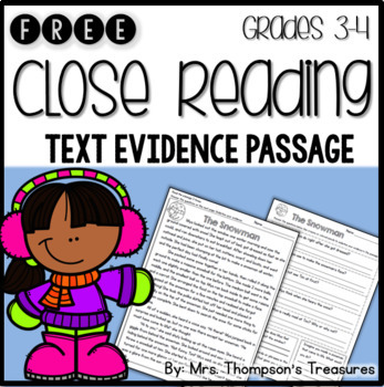 Close Reading Free