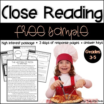 Close Reading: Close Reading Passage Sample