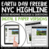 Earth Day Close Reading Freebie: New York City High Line