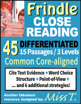 Close Reading: Frindle by Andrew Clements