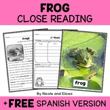Close Reading Passage - Frog Activities