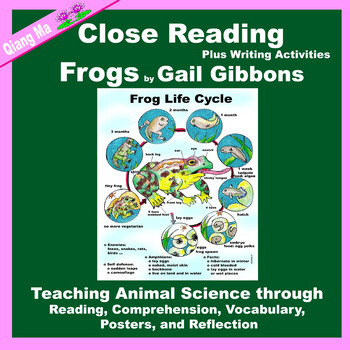 Close Reading: Frogs by Gail Gibbons