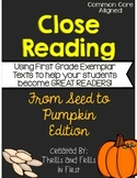 Close Reading From Seed to Pumpkin