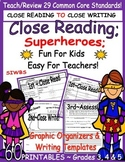 Shared Reading Story Elements Close Reading Gr.3,4,5