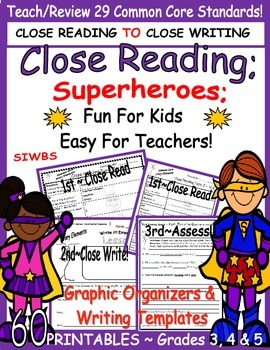 Story Elements Close Reading Fun for Kids ~ Easy for Teach