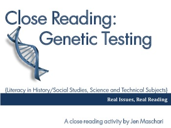 Close Reading: Genetic Testing