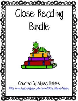 Close Reading Graphic Organizer Bundle
