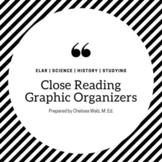 Close Reading Graphic Organizer: Comprehension Focus
