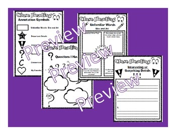 Close Reading Graphic Organizers for Any Piece of Text