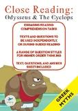 Close Reading - Greek Mythology - Odysseus and the Cyclops