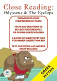 Close Reading - Greek Mythology - Odysseus and the Cyclops