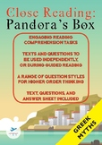Close Reading - Greek Mythology - Pandora's Box