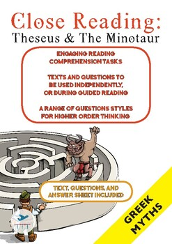 Close Reading - Greek Mythology - Theseus and the Minotaur