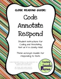 Close Reading Guide: Code, Annotate, Respond