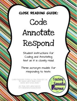 Close Reading Guide: Code, Annotate, Respond