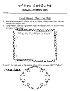 Close Reading Guide: Can Be Used with ANY Nonfiction Text!