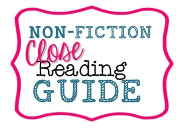 Close Reading Guide for ANY Nonfiction / Informational Text - 10 CR Qs