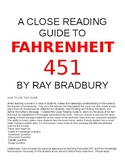 Close Reading Guide To Fahrenheit 451