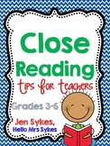 Close Reading Tips