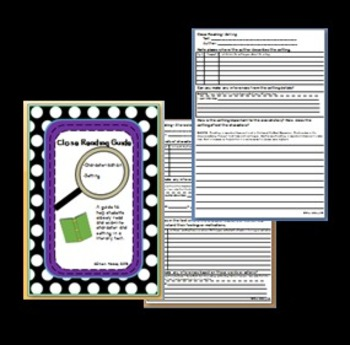 Close Reading Guide:Characterization and Setting - with ISN pages