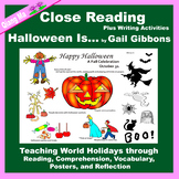 Close Reading: Halloween Is ... by Gail Gibbons