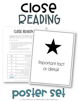 Close Reading Poster Set