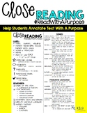 Close Reading -Helping Students Annoate the Text