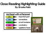 Close Reading Highlighting Guide
