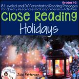 Close Reading Holidays