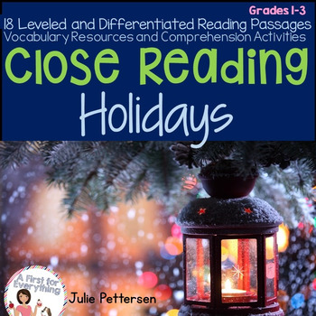 Close Reading Holidays