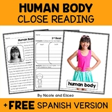 Human Body Close Reading Passage Activities