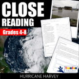Close Reading: Hurricane Harvey (4th-8th Grade)