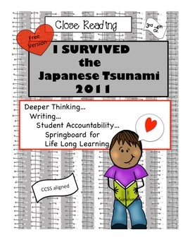 Free Close Reading I Survived the Japanese Tsunami 2011