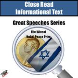 Close Reading Nonfiction Elie Wiesel Nobel Peace Prize