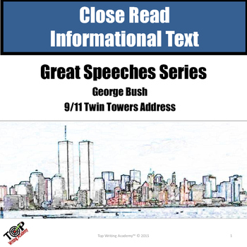 "Close Reading Nonfiction 9/11 George Bush ""Great Speeches"""