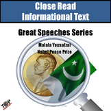 Malala Yousafzai Nobel Peace Close Reading Nonfiction
