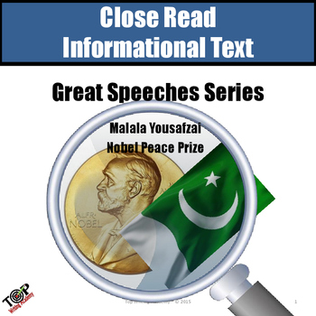 Malala Yousafzai Nobel Peace Close Reading Nonfiction