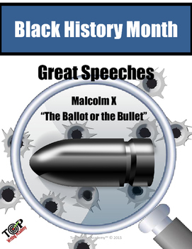 Black History Month Malcolm X Close Reading Unit