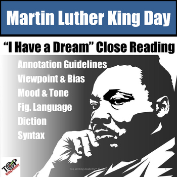 Martin Luther King Jr. I Have a Dream Close Reading Unit