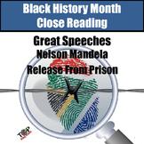 Black History Month Nelson Mandela Close Reading Unit