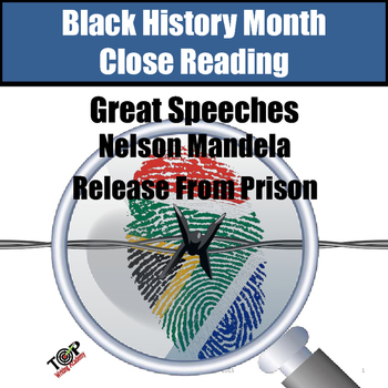 Black History Month Nelson Mandela Close Reading Unit