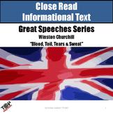 "Close Reading Nonfiction ""Great Speeches"" Winston Churchill"