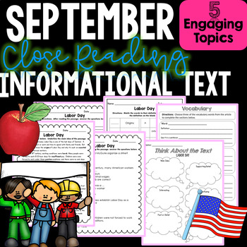 Close Reading Informational Text and Comprehension - Month