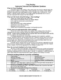 Close Reading - Instructor Notes, Student Template, and Text Dependent Prompts
