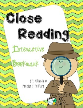 Close Reading Interactive Bookmark