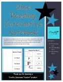 Close Reading Interactive Notebook
