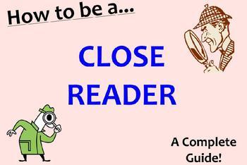 Close Reading Common Core Interactive SMART Notebook Presentation