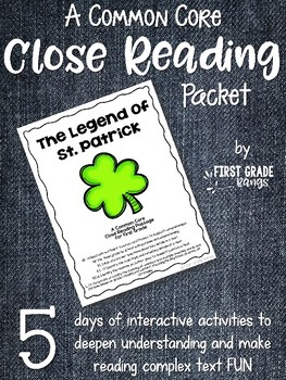 Close Reading Interactive Story - The Legend of St. Patrick