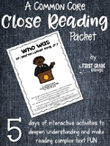 Close Reading Interactive Story - Who Was Dr. Martin Luther King, Jr.?