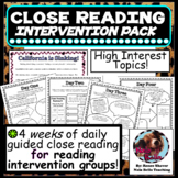 Reading Comprehension Intervention Bundle